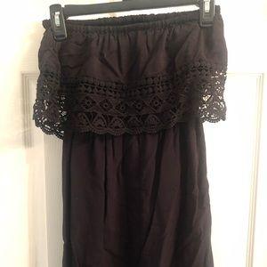 Black Off the shoulder/Sleeveless Dress